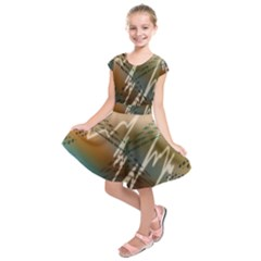 Pop Art Edit Artistic Wallpaper Kids  Short Sleeve Dress