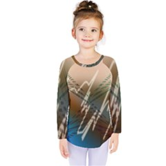 Pop Art Edit Artistic Wallpaper Kids  Long Sleeve Tee