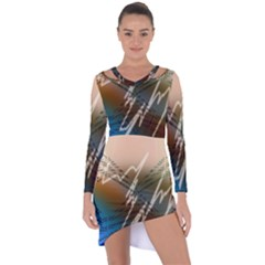 Pop Art Edit Artistic Wallpaper Asymmetric Cut-Out Shift Dress