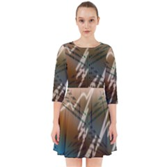 Pop Art Edit Artistic Wallpaper Smock Dress