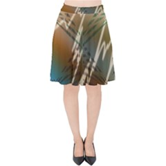 Pop Art Edit Artistic Wallpaper Velvet High Waist Skirt