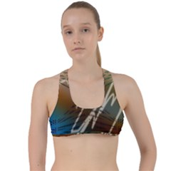 Pop Art Edit Artistic Wallpaper Criss Cross Racerback Sports Bra