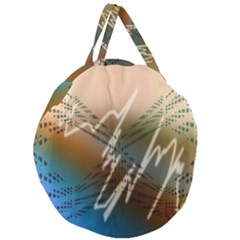 Pop Art Edit Artistic Wallpaper Giant Round Zipper Tote