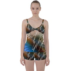 Pop Art Edit Artistic Wallpaper Tie Front Two Piece Tankini