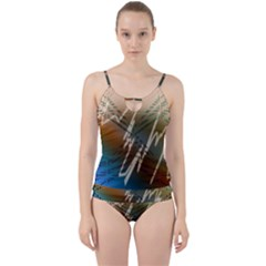 Pop Art Edit Artistic Wallpaper Cut Out Top Tankini Set