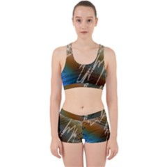 Pop Art Edit Artistic Wallpaper Work It Out Sports Bra Set