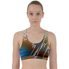 Pop Art Edit Artistic Wallpaper Back Weave Sports Bra