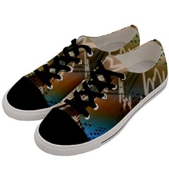 Pop Art Edit Artistic Wallpaper Men s Low Top Canvas Sneakers