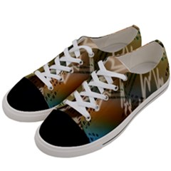 Pop Art Edit Artistic Wallpaper Women s Low Top Canvas Sneakers