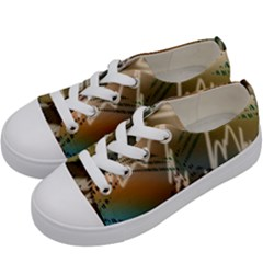 Pop Art Edit Artistic Wallpaper Kids  Low Top Canvas Sneakers