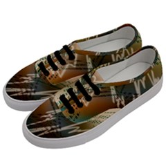 Pop Art Edit Artistic Wallpaper Men s Classic Low Top Sneakers