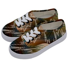 Pop Art Edit Artistic Wallpaper Kids  Classic Low Top Sneakers