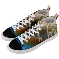 Pop Art Edit Artistic Wallpaper Men s Mid-Top Canvas Sneakers