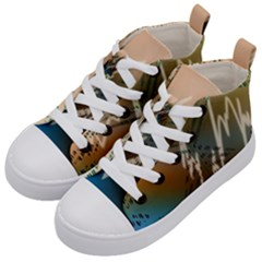 Pop Art Edit Artistic Wallpaper Kid s Mid-Top Canvas Sneakers