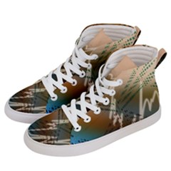 Pop Art Edit Artistic Wallpaper Men s Hi-Top Skate Sneakers