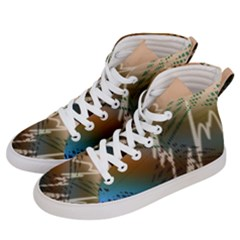 Pop Art Edit Artistic Wallpaper Women s Hi-Top Skate Sneakers