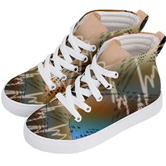 Pop Art Edit Artistic Wallpaper Kid s Hi-Top Skate Sneakers