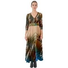 Pop Art Edit Artistic Wallpaper Button Up Boho Maxi Dress