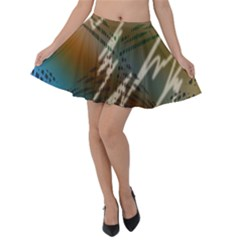 Pop Art Edit Artistic Wallpaper Velvet Skater Skirt