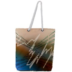 Pop Art Edit Artistic Wallpaper Full Print Rope Handle Tote (Large)