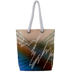 Pop Art Edit Artistic Wallpaper Full Print Rope Handle Tote (Small)