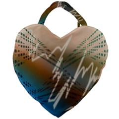 Pop Art Edit Artistic Wallpaper Giant Heart Shaped Tote