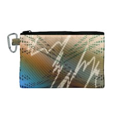 Pop Art Edit Artistic Wallpaper Canvas Cosmetic Bag (Medium)