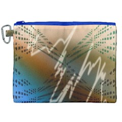 Pop Art Edit Artistic Wallpaper Canvas Cosmetic Bag (XXL)