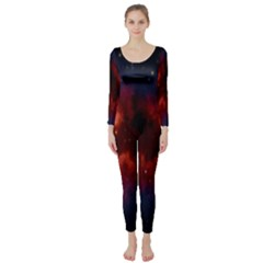 Astronomy Space Galaxy Fog Long Sleeve Catsuit