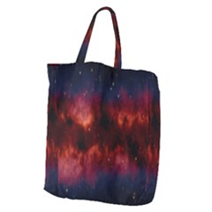 Astronomy Space Galaxy Fog Giant Grocery Zipper Tote