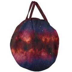 Astronomy Space Galaxy Fog Giant Round Zipper Tote