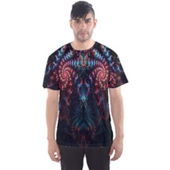 Abstract Background Texture Pattern Men s Sports Mesh Tee