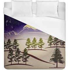 Background Christmas Snow Figure Duvet Cover (king Size) by Nexatart