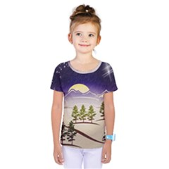 Background Christmas Snow Figure Kids  One Piece Tee by Nexatart