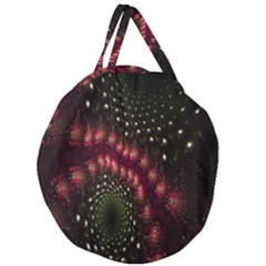 Background Texture Pattern Giant Round Zipper Tote