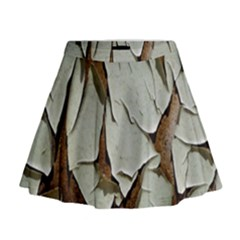 Dry Nature Pattern Background Mini Flare Skirt