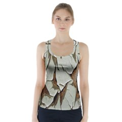 Dry Nature Pattern Background Racer Back Sports Top by Nexatart