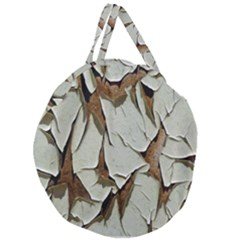 Dry Nature Pattern Background Giant Round Zipper Tote