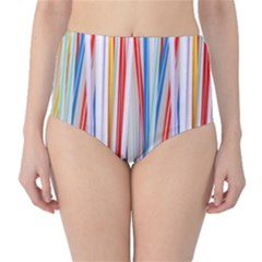 Background Decorate Colors High Waist Bikini Bottoms