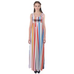 Background Decorate Colors Empire Waist Maxi Dress