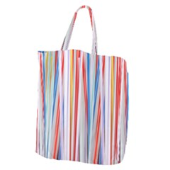Background Decorate Colors Giant Grocery Zipper Tote