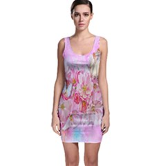 Nice Nature Flowers Plant Ornament Bodycon Dress by Nexatart