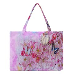 Nice Nature Flowers Plant Ornament Medium Tote Bag