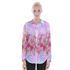 Nice Nature Flowers Plant Ornament Womens Long Sleeve Shirt