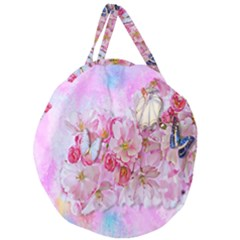 Nice Nature Flowers Plant Ornament Giant Round Zipper Tote