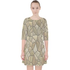Tile Steinplatte Texture Pocket Dress