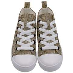 Tile Steinplatte Texture Kid s Mid Top Canvas Sneakers