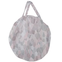 Pattern Mosaic Form Geometric Giant Round Zipper Tote