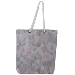Pattern Mosaic Form Geometric Full Print Rope Handle Tote (large)