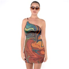 Creativity Abstract Art One Soulder Bodycon Dress